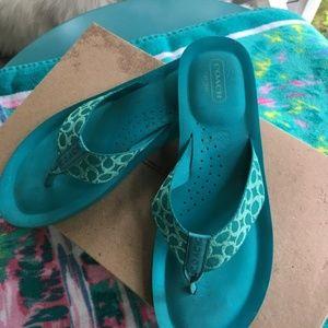 Coach Flip Flop Sandals size 8